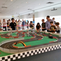 rev-up singapore, SIA light-up-the-night carnival, F1 pit building, slot cars racing, remote control cars, remote control racing, mini cars race, toy cars racing, f1 toy cars, f1 event, singapore night race