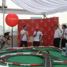 lewis hamilton, slot cars, fullerton hotel, F1 event singapore, slot cars in singapore