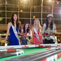 MBS F1 event, Miss Universe, the finish line, slot cars racing